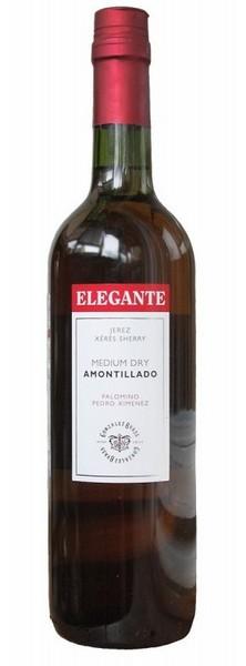 Херес Elegante Medium Ado. бел.п/сл 0,75л 17% (Испания,Херес де ля Фронтера,TM Elegante)