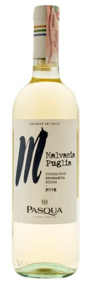 Вино Malvasia di Puglia igt Pasqua 2014 бел.сух 0,75л 12% (Италия,Puglia,TM Pasqua)