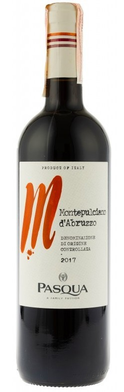 Вино Montepulciano D Abruzzo DOC Pasqua 2013 кр.сух 0,75л 11,5% (Италия,Abruzzo,TM Pasqua)