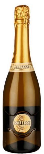 Вино игр. Prosecco Valdob Superiore DOCG бел.сух 0,75л 11% (Италия, Вальдоббьядене,ТМ Belussi)