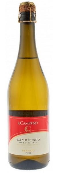 Вино игристое Lambrusco Campiero MPF Bianco бел.сл 0,75л 6% (Италия,Эмилия-Романья,ТМ Campiero)