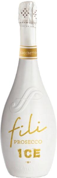 Вино игристое Prosecco Ice DOC бел.сух 0,75л 11% (Италия, Венето, ТМ Sacchetto)