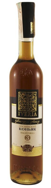 Коньяк Iveria 3 года 0,5л 40% (Грузия, ТМ Iveria)