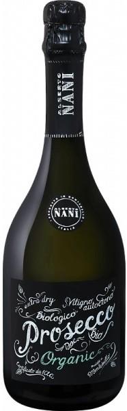 Вино игристое Prosecco DOC BIO Spumante бел.экстра/сух 0,75л 11% (Итали, Венето,ТМ Alberto Nani)