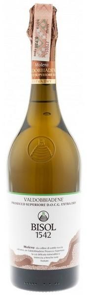 Вино игристое Prosecco Sup DOCG Spum Molera бел.экстра/сух 0,75л 11,5% (Италия, Венето,ТМ Bisol)