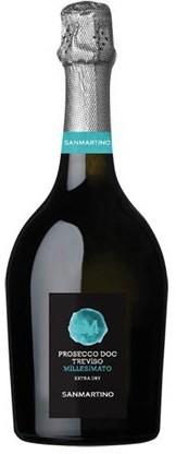Вино игристое Prosecco DOC Mill 2018 бел.экстра/сух 0,75л 11% (Итали, Тревизо, ТМ Sanmartino)