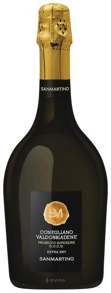 Вино игристое Prosecco Superior Valdob. DOCG бел.экстра/сух 0,75л 11% Итали,Венето,ТМ Sanmartino)