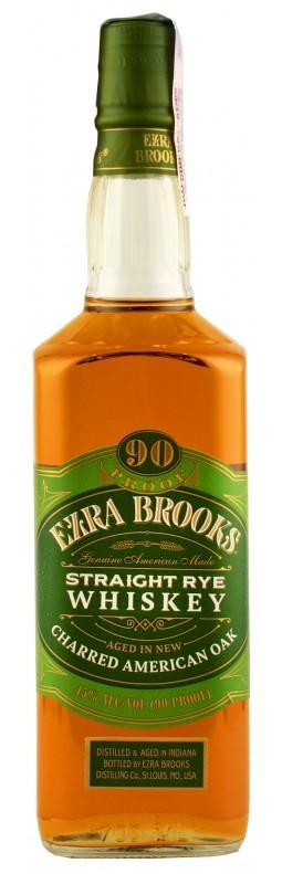 Бурбон Ezra Brooks Rye 0,7л 45% (США, Кентукки, ТМ Ezra Brooks)