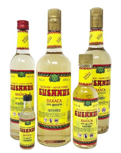 Мескаль с червяком Gusanos 0,05л 40% (Мексика, ТМ Gusanos)